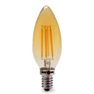 Λάμπα LED Κερί C35 Filament Vintage 4W Dimmable LVC14D